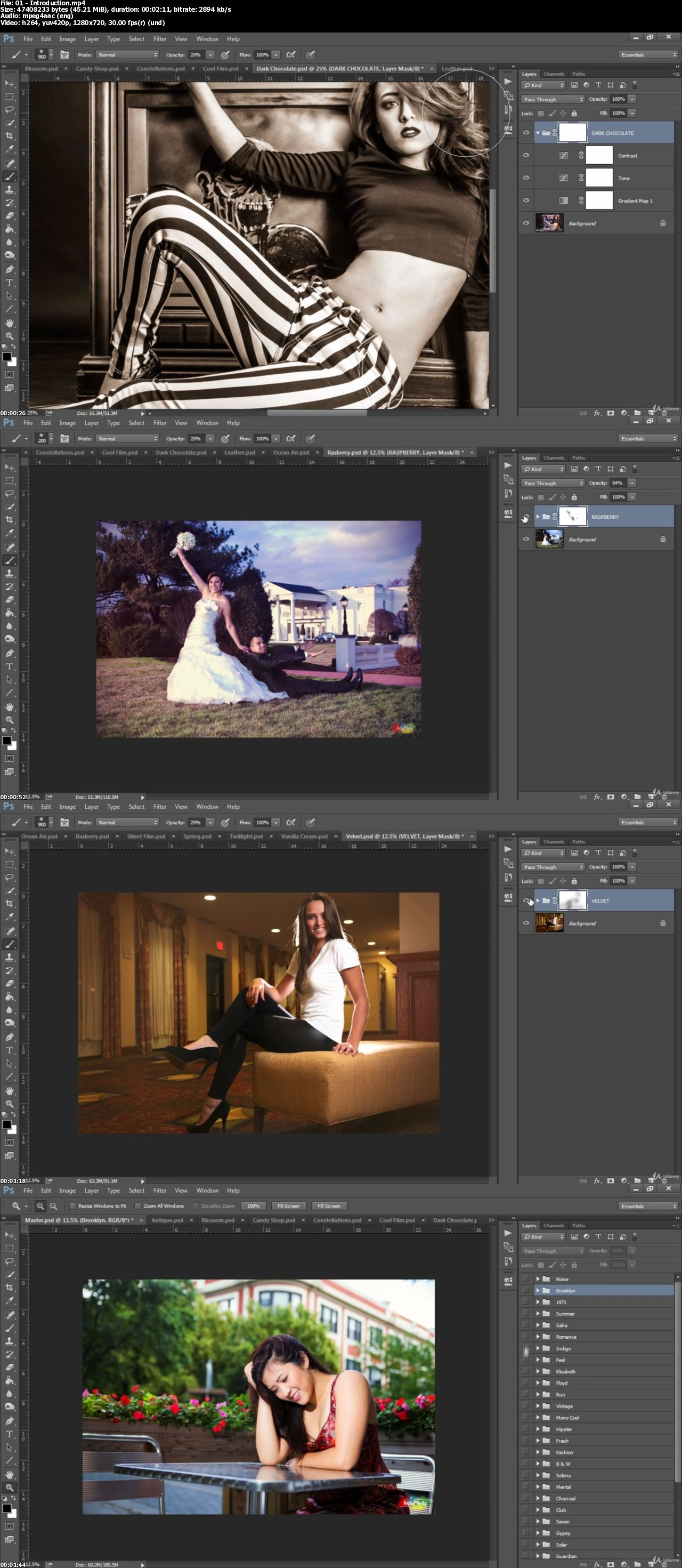 Photoshop Actions for Photographers (50 Actions + Samples)