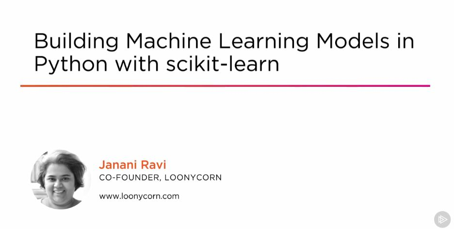 Building Machine Learning Models in Python with scikit-learn