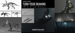 Gumroad – Blender 2.8: Turn your 2D drawing into a 3D model using Grease Pencil